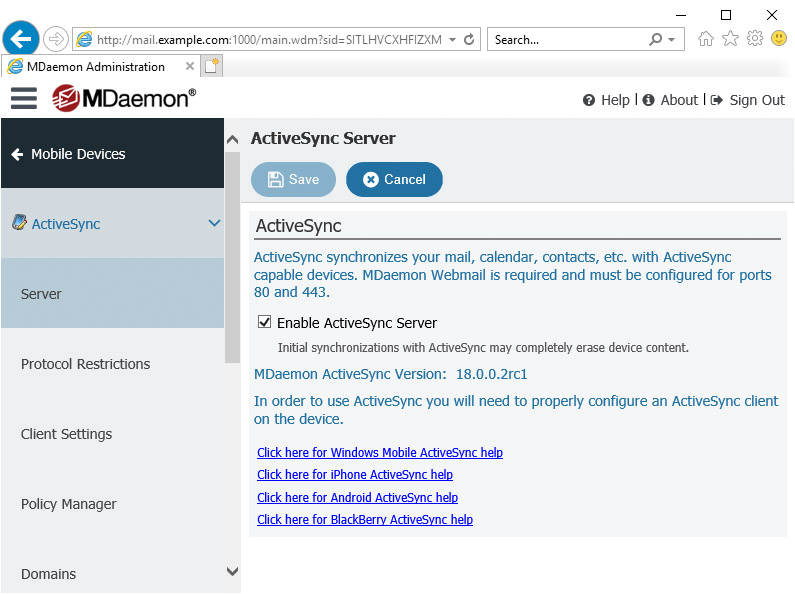Mail Server | MDaemon Messaging Server | Mobile Device Access