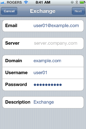 ActiveSync for MDaemon: iPhone Setup