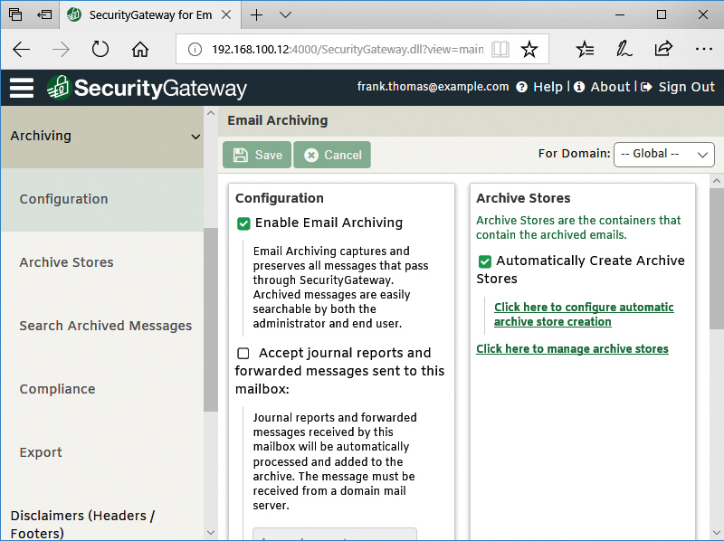 SecurityGateway for Email Servers | New Features