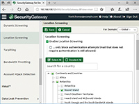 SecurityGateway for Email Servers - Location Screening