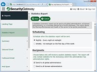 SecurityGateway for Email Servers - Scheduled Statistics Report