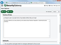 SecurityGateway for Email Servers - Terms of  Service Statement