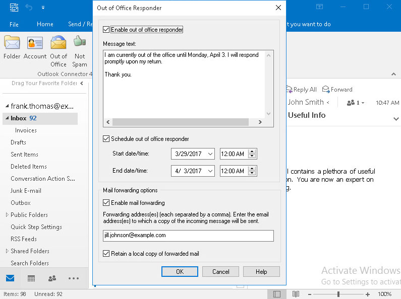 Mdaemon Connector For Outlook Out Of Office Istant